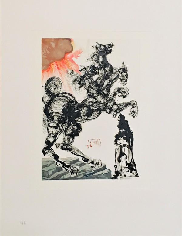 """Der Höllenbund Cerberus"" (German) ""Alighieri""   Göttliche Komödie Hölle H6 by Salvador Dali #D2 by Salvador Dali"