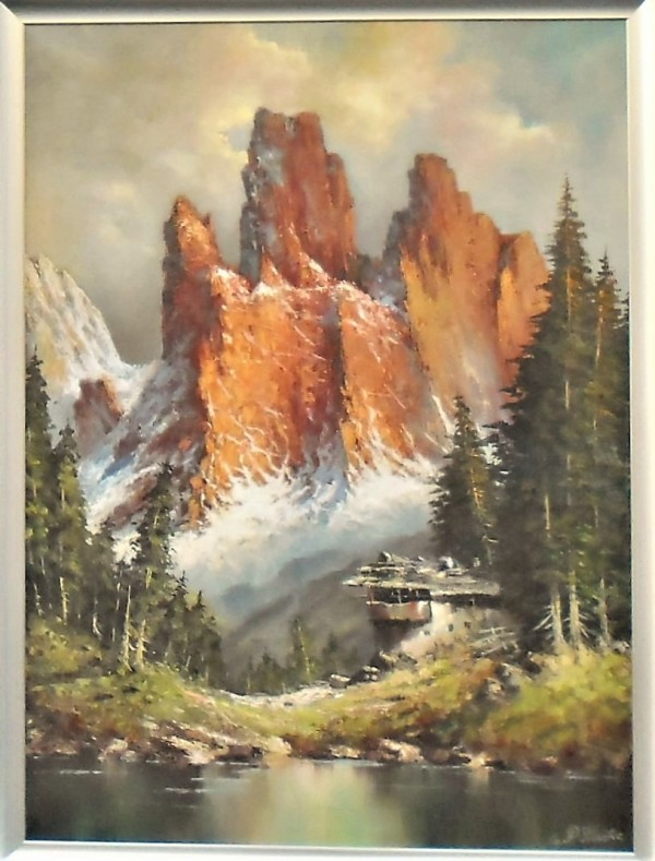 """""""Reddish Mountains"""" by Paul Franke by P Franke"""