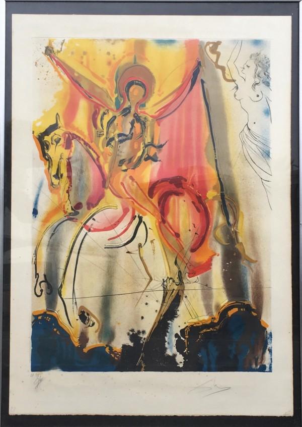 Le Cavalier Triomphant by Salvador Dali by Salvador Dali