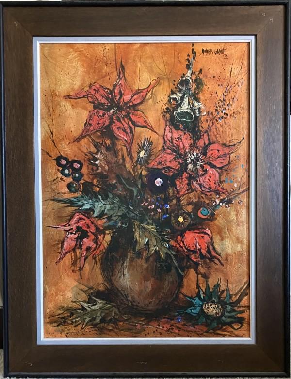 """Harvest Scene with Flowers"" Vertical by Didier Grandt by Didier Grandt"