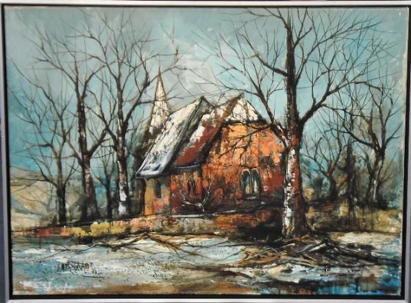 """Kapelle im Schnee"" by Didier Grandt by Didier Grandt"