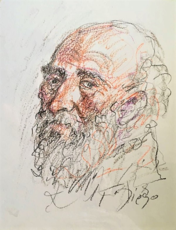 """""""Old Man with Colored Beard"""" by Antonio Diego Voci  #CD8 by Antonio Diego Voci"""