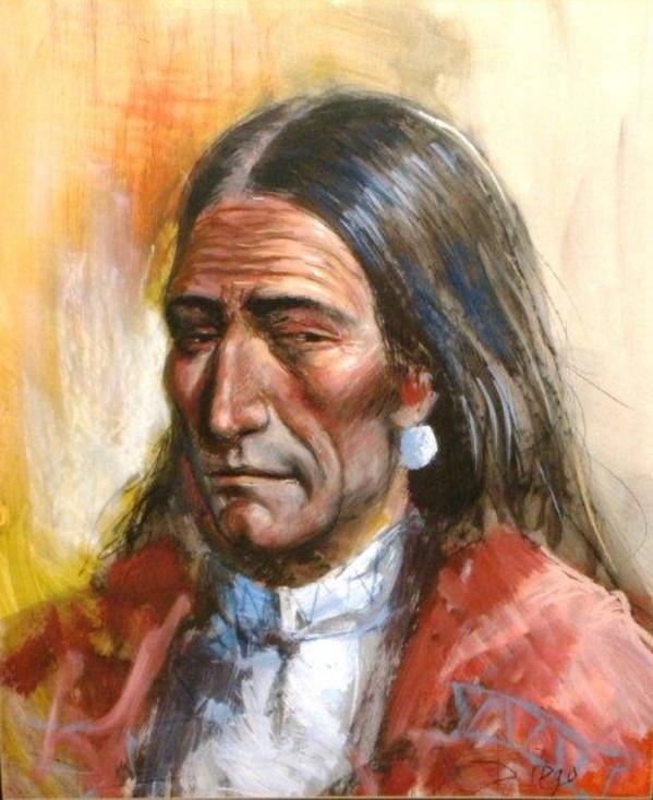"""Sly Eye"" (Indianer) by Antonio Diego Voci by Antonio Diego Voci"