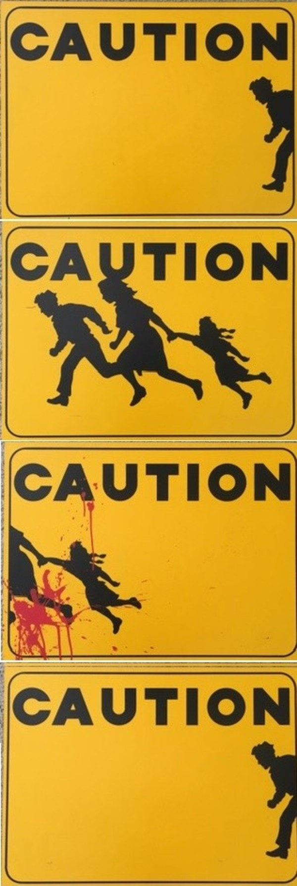"""""""Toll Road"""" (Immigration Control) - Four Serigraph Set ONE AND ONLY Artist Proof by Mario Uribe"""