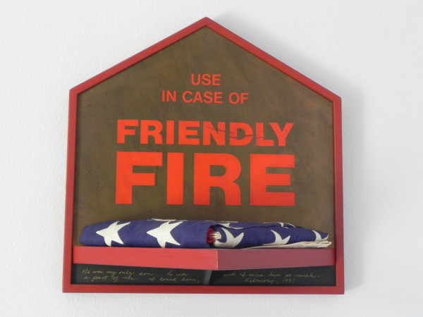 """Friendly Fire"" with American Flag by Mario Uribe by Mario Uribe"