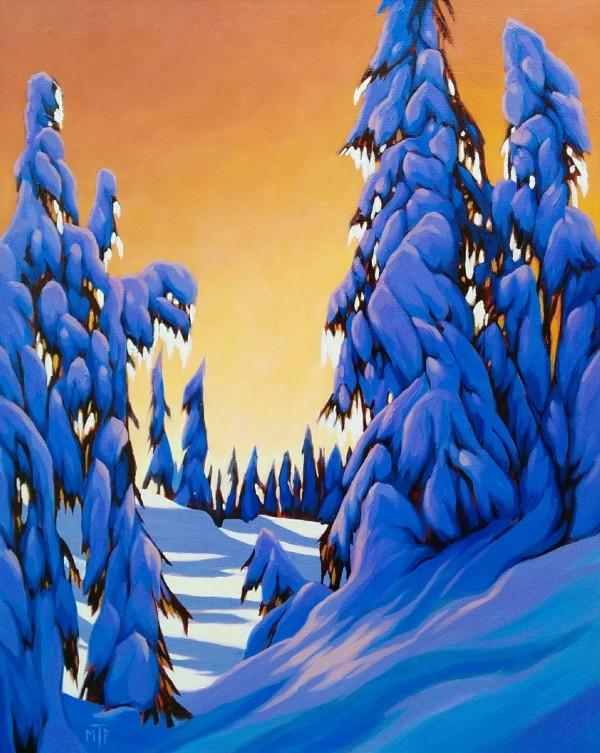 Mountain Sunset by Tatjana Mirkov-Popovicki