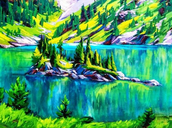Rock Isle Lake by Tatjana Mirkov-Popovicki