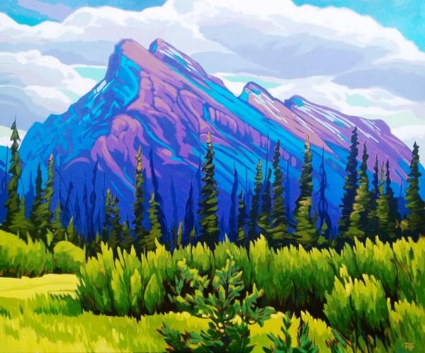 Mt Rundle by Tatjana Mirkov-Popovicki