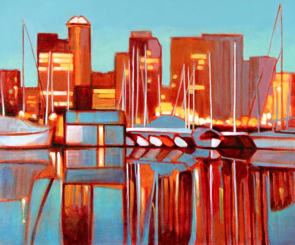 Vancouver Night Lights by Tatjana Mirkov-Popovicki