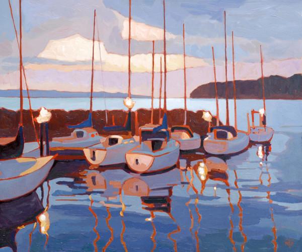 Harbor Lanterns by Tatjana Mirkov-Popovicki