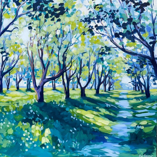 Spring Plum Trees by Clair Bremner