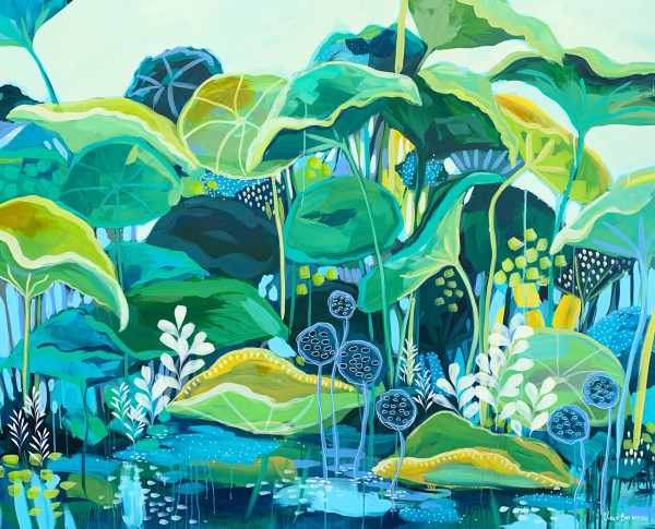 The Lotus Pond by Clair Bremner