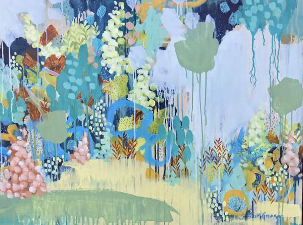 Back Garden in Winter by Clair Bremner