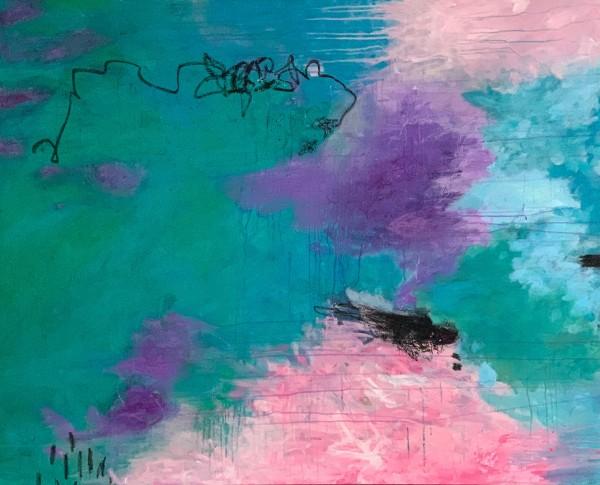 Rain in Monet's Garden by Katie Willes