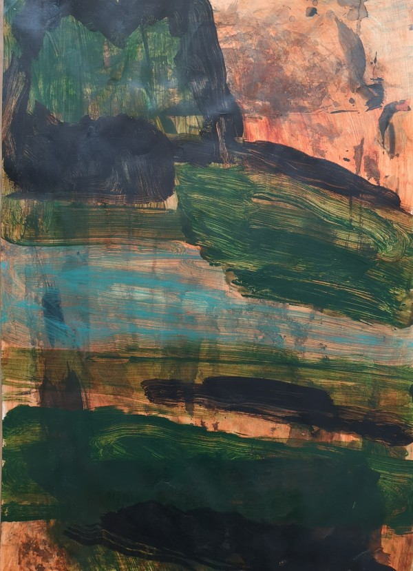 Untitled Abstract Land by Christopher Brown
