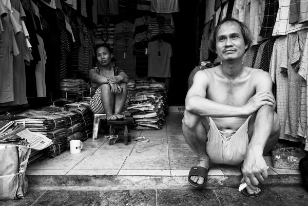 Hanoi Shopkeeper 16x20 by Brad Mirman