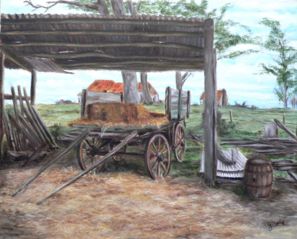 The Old Wagon by Gerard