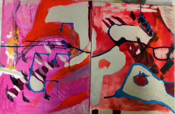 #5 On the Run (Diptych) by Bonnie Levinson