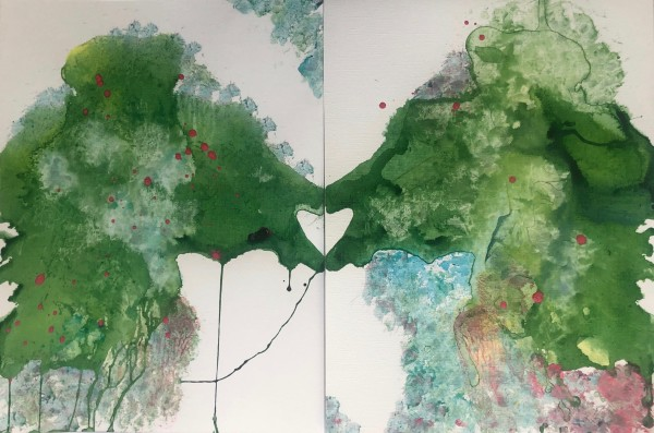 Love in any form (diptych) by Bonnie Levinson