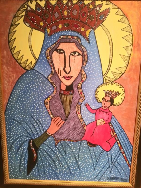 RELIGIOUS SCENE by ROLAND ST. HUBERT