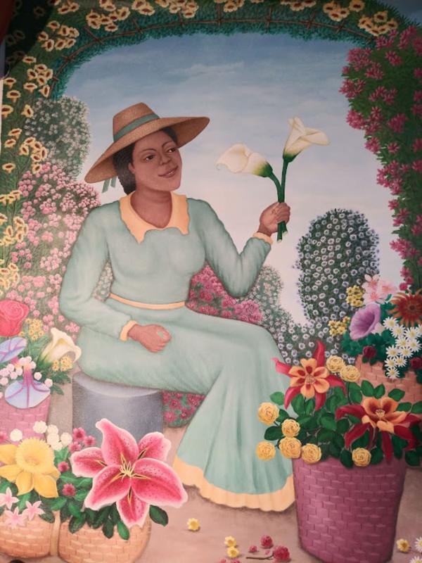 FLOWER LADY  (UNFRAMED) by AMERLIN  DELINOIS
