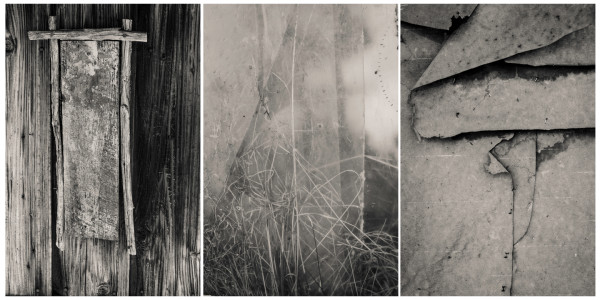 winter wabi sabi triptych by Kelly Sinclair