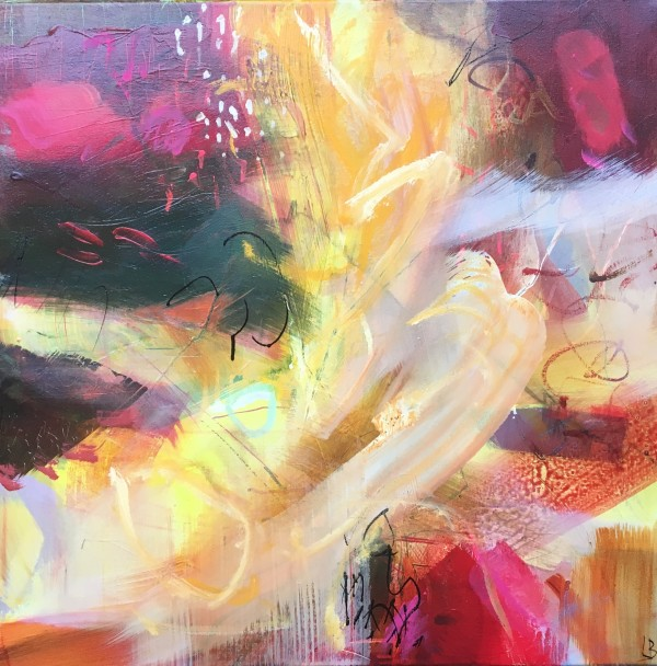 Crimson & Yellow i by Lesley Birch