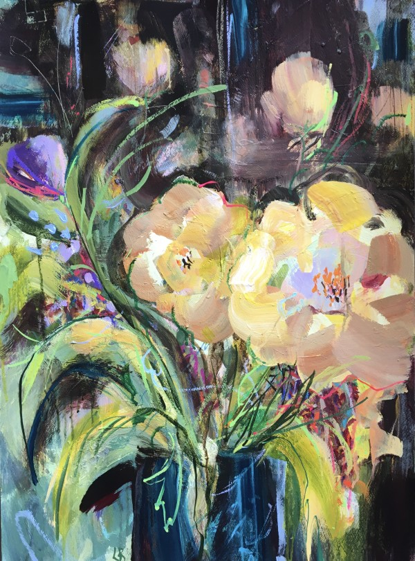 Fading Peonies by Lesley Birch