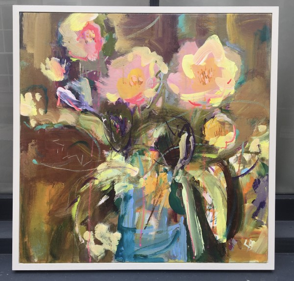 Twins, Peonies by Lesley Birch