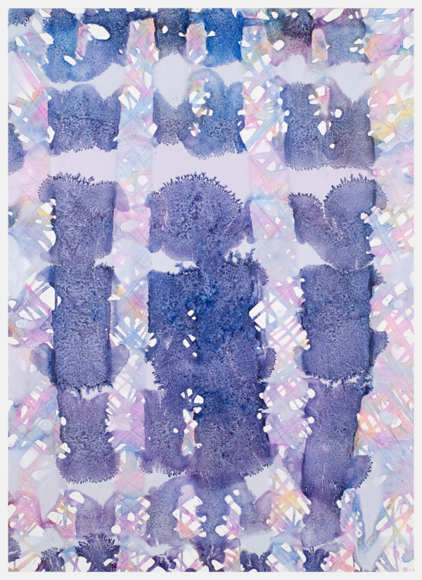 Lilac, Lavender, Blue into Red, Yellow, Blue, Purple by Leon Phillips