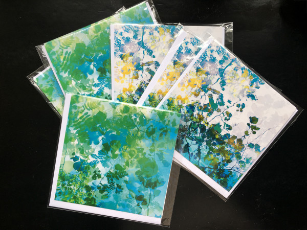 Rain dance card set ( 6 individually wrapped greeting cards) by caroline fraser