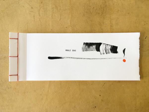 Whale Song - an artist book by caroline fraser