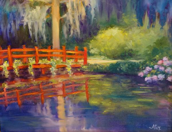亚历山德拉·卡辛的《红桥和绣球花》