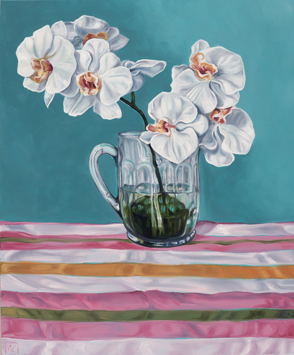 Swapcard Orchids and Beer Stripes by Alicia Cornwell