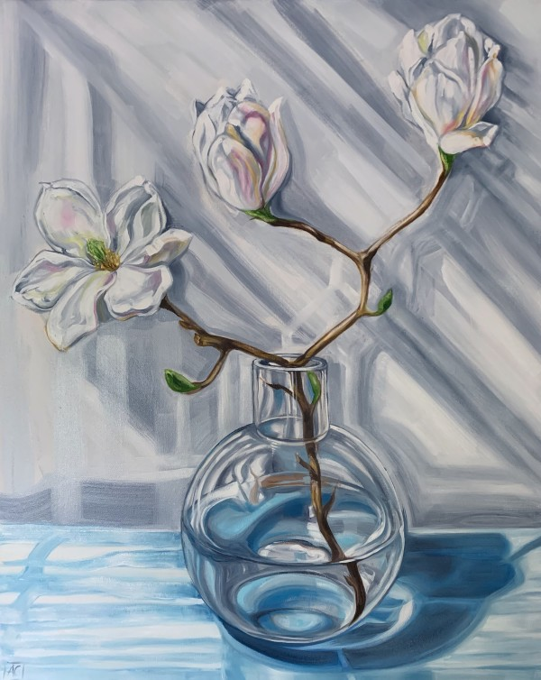 Magnolia Reflections in Blue #1 by Alicia Cornwell
