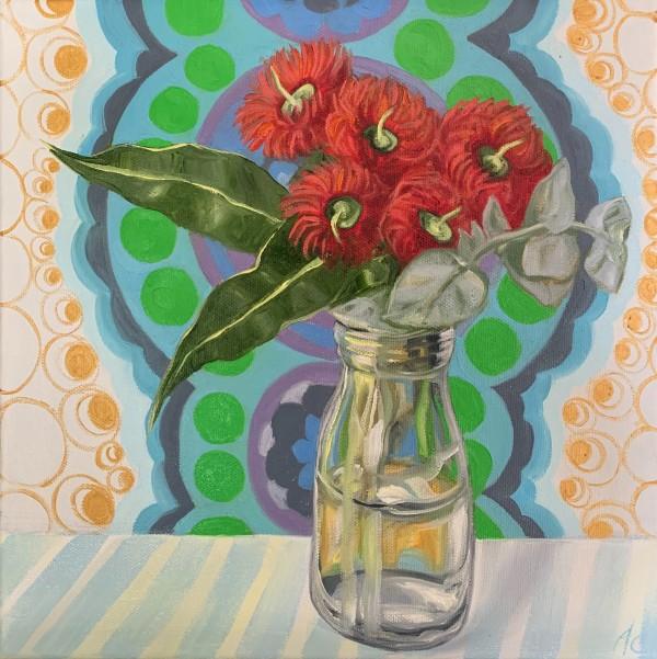 Retro Cream Bottle Gum Blossom by Alicia Cornwell