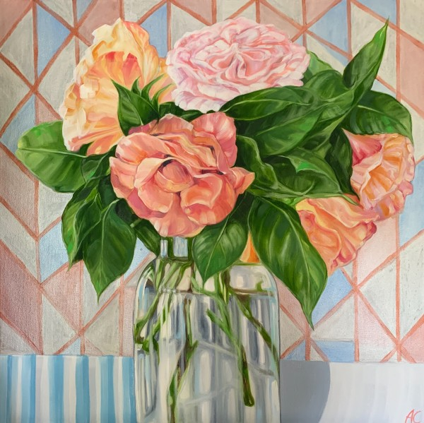 Trellis Roses and the Copper Geo by Alicia Cornwell