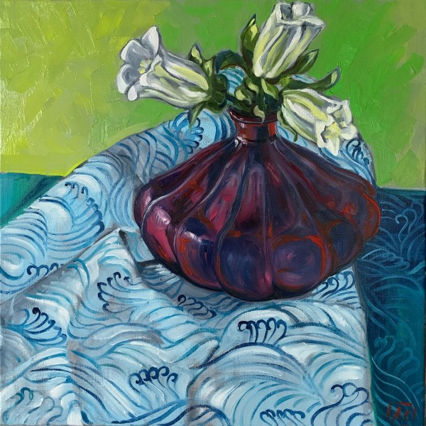 Blue Waves and Bell Flowers by Alicia Cornwell