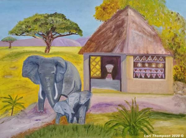 Family Affair Elephants Africa by Lori Thompson
