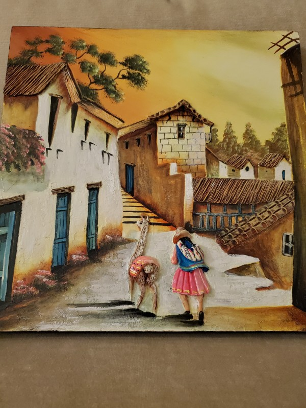 Girl with Llama by Vicky Weeber