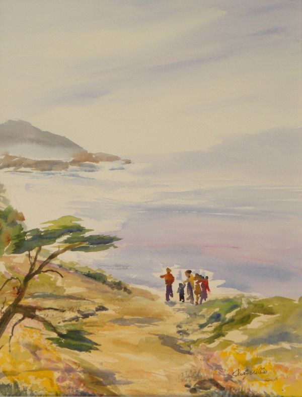 Pt Lobos Family Time by Judy Willis