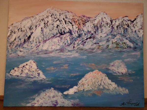 Snow Top Mountains by Lori Thompson