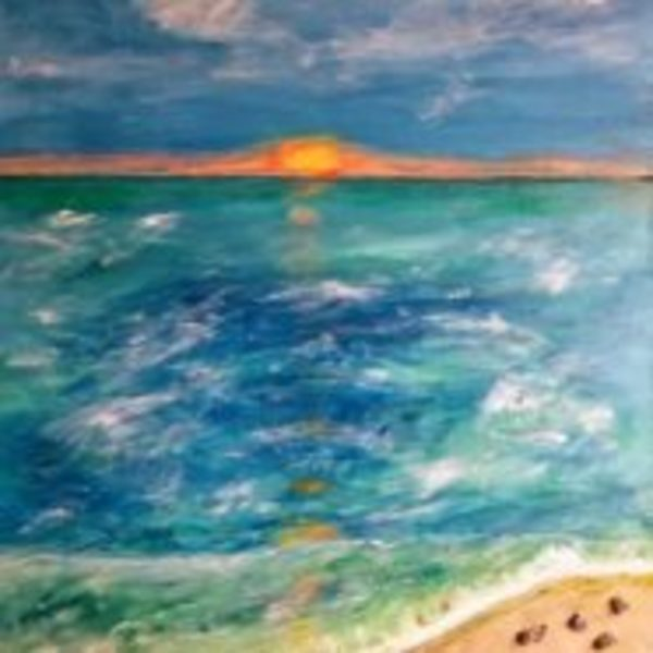 Sunset on the Shore by Lori Thompson