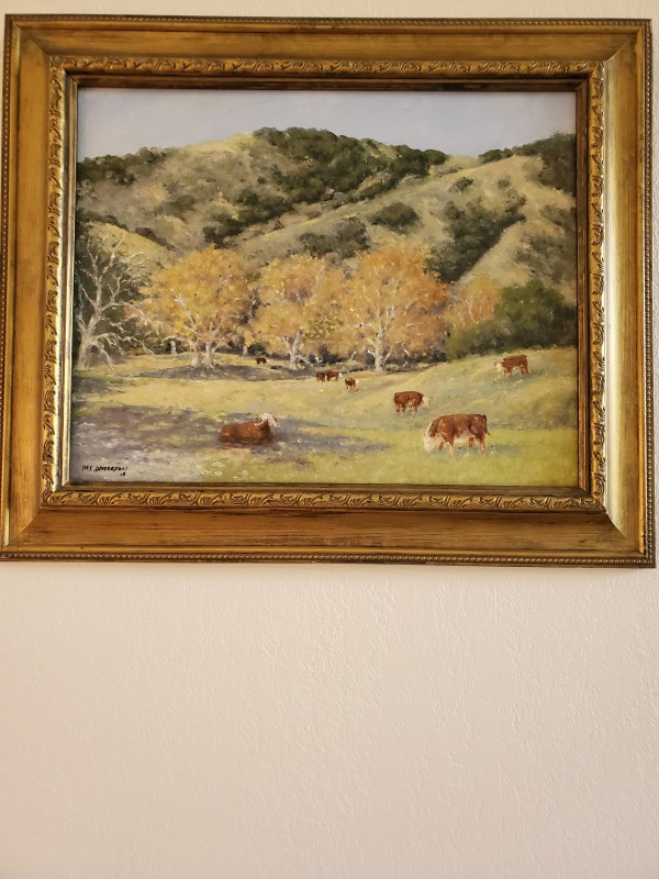 Sycamore and Cattle by Marv Anderson