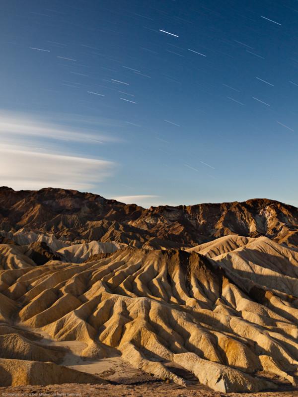 Star Trails, The Manifold, Zabriskie Point by G Dan Mitchell