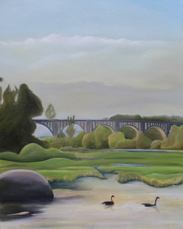 Evening By The CSX A-Line Bridge by Emma Knight