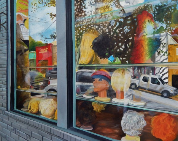Wig Shop Window, L5P by Emma Knight