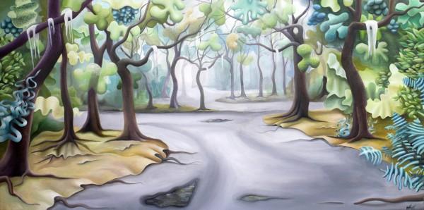 Rainy Emerald Oaks by Emma Knight