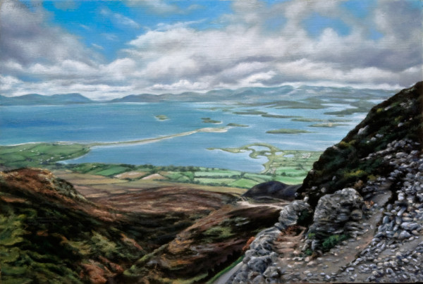 View of Clew Bay off Croagh Patrick