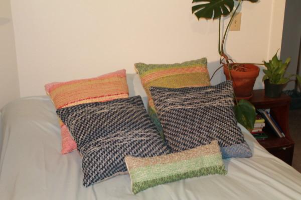 Scrap Yarn Pillows